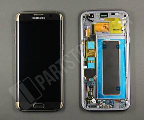 Дисплей Samsung G935 Gold S7 Edge (GH97-18533C) сервисный оригинал в сборе с рамкой, фото 2