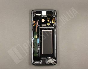 Дисплей Samsung g960 Black s9 (GH97-21696A) сервисный оригинал в сборе с рамкой, фото 2