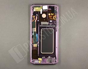Дисплей Samsung g965 Lilac Purple s9 Plus (GH97-21691B) сервисный оригинал в сборе с рамкой, фото 2