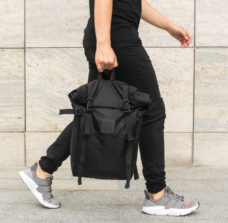 Рюкзак мужской городской спортивный черный, мужской рюкзак городской для ноутбука, рюкзак роллтоп STREAMER