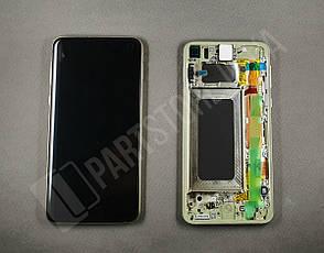 Дисплей Samsung G970 Yellow S10e (GH82-18852G) сервисный оригинал в сборе с рамкой, фото 2