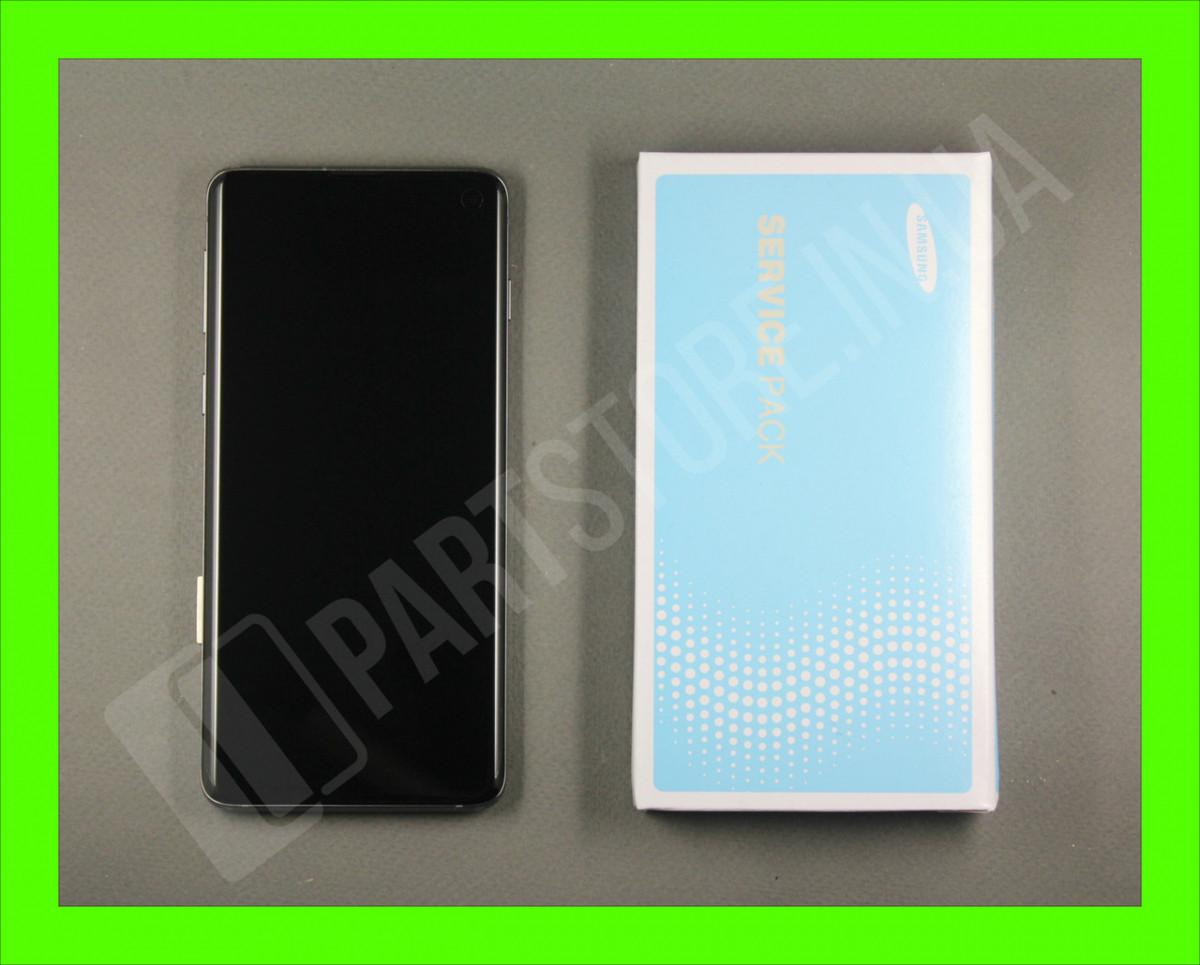 Дисплей Samsung G973 Black S10 (GH82-18850A) сервисный оригинал в сборе с рамкой