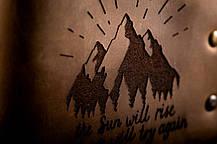 Мужской кожаный кошелек ТатуНаКоже, рассвет, фото 3