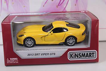 Машинка Kinsmart 2013 SRT Viper GTS желтая
