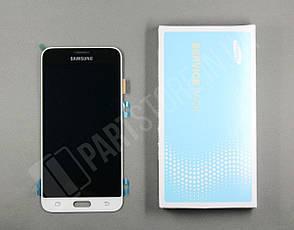 Дисплей Samsung j320 White j3 2016 (GH97-18414A) сервисный оригинал, фото 2