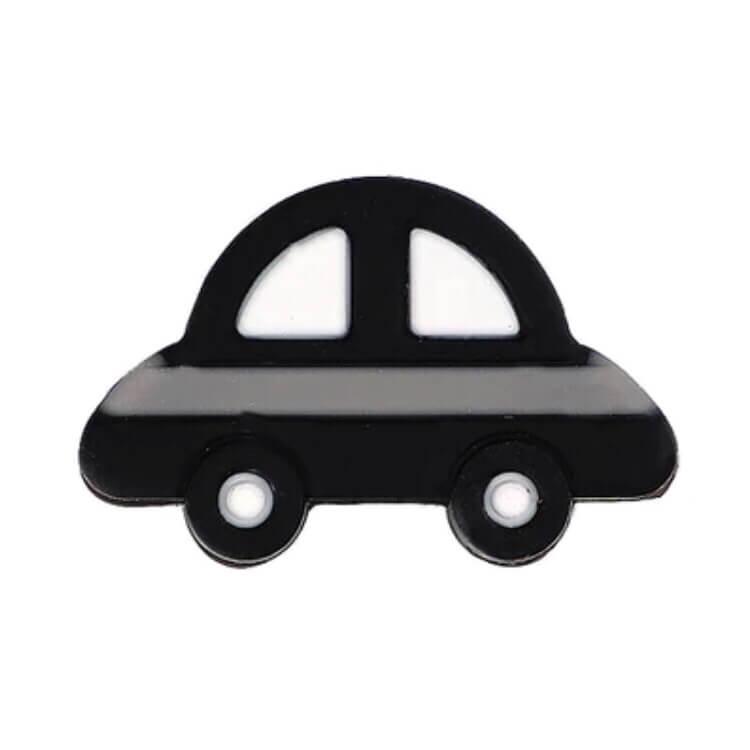 Машинка МИНИ, БУСИНА (черная) силиконовая бусина