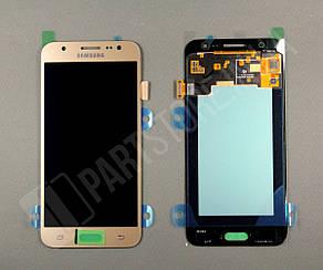 Дисплей Samsung j500 Gold j5 2015 (GH97-17667С) сервисный оригинал, фото 2