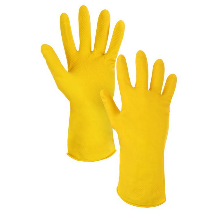 Перчатки латексные  хозяйственные, CXS NINA, 0,23 мм, желтые