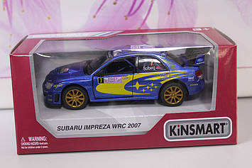 Машинка Kinsmart Subaru impreza WRC 2007 синяя