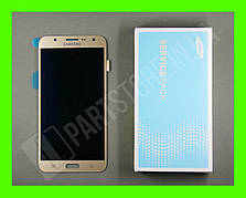 Дисплей Samsung j700 Gold j7 2015 (GH97-17670B) сервисный оригинал