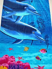 """Полотенце пляжное """"Дельфины"""""""