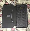 Чехол-книжка Xiaomi Redmi 8A флип бампер накладка цветной черный на магните, фото 4