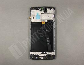 Дисплей Samsung А10 Black А105 2019 (GH82-19367A) сервисный оригинал в сборе с рамкой, фото 2