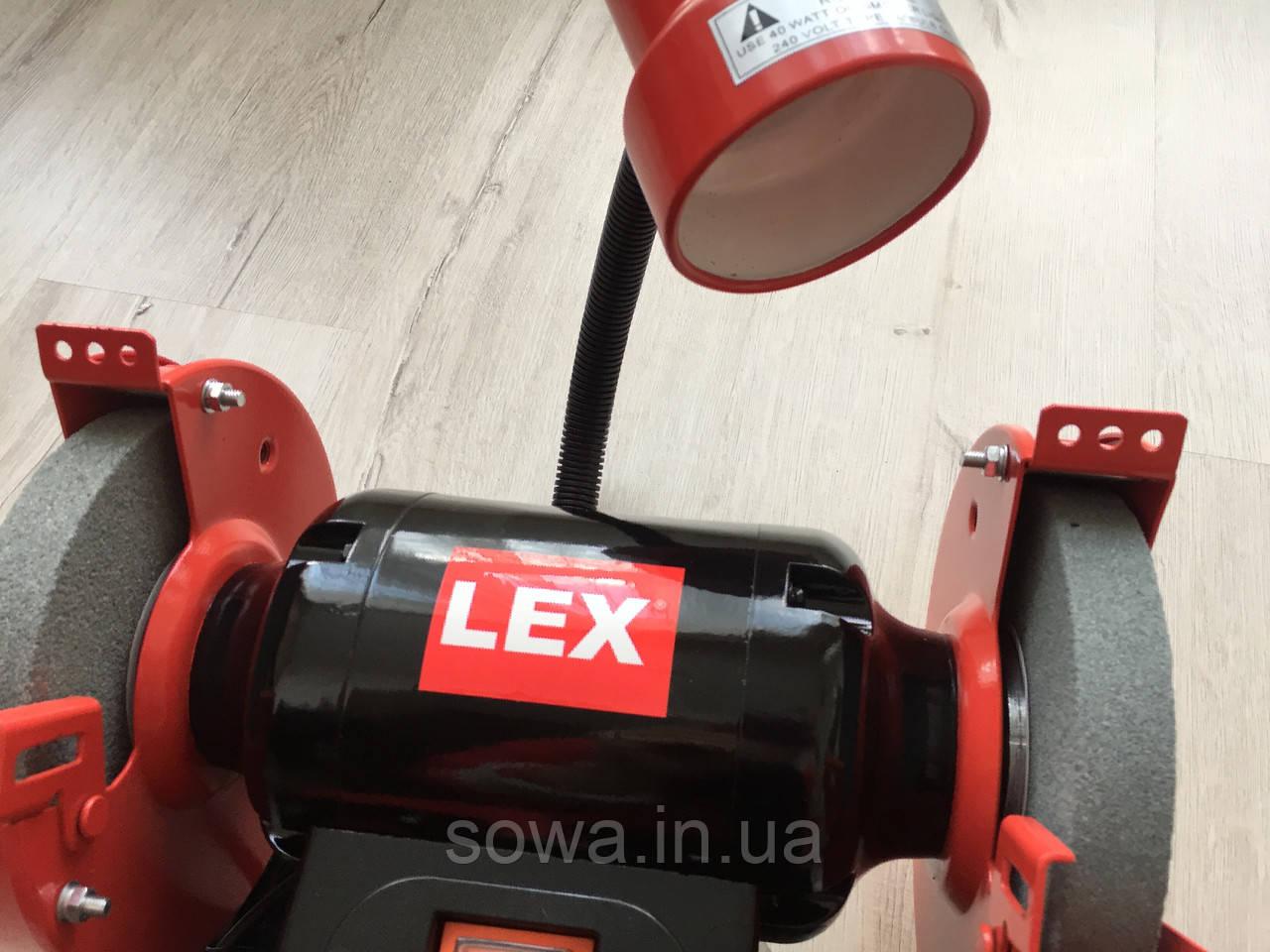 Точильный станок Lex LXBG14 | с подсветкой | 150мм, 1400Вт - фото 4
