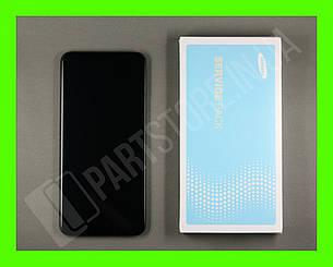 Дисплей Samsung А20 Black А205 2019 (GH82-19571A) сервисный оригинал в сборе с рамкой, фото 2