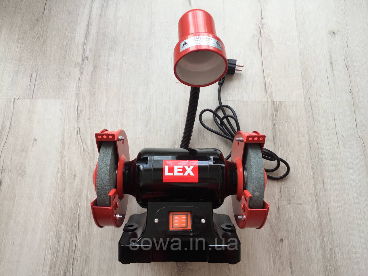 Точильный станок Lex LXBG14 | с подсветкой | 150мм, 1400Вт - фото 3