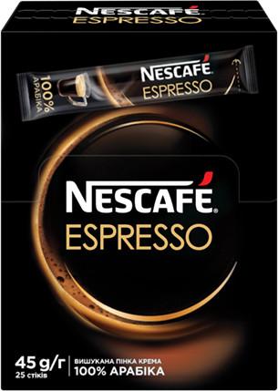 Нескафе в стиках Эспрессо кофе растворимый 25 шт. по 1,8 грамма