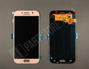 Дисплей Samsung а520 pink а5 2017 (GH97-19733D) сервисный оригинал, фото 2