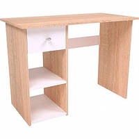 Стол письменный для кабинета/детской комнаты (дуб сонома/белый, ДСП), фото 1