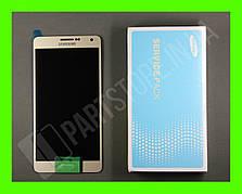 Дисплей Samsung а700 gold а7 2015 (GH97-16922F) сервисный оригинал