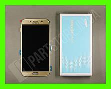 Дисплей Samsung а720 gold а7 2017 (GH97-19723B) сервисный оригинал
