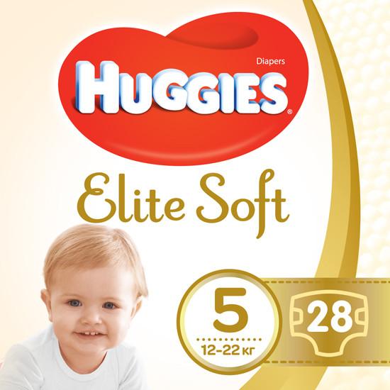 Підгузки Huggies Elite Soft 5 (12-22кг), 28шт