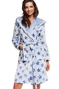 Банный женский халат в звезды (размеры S-XL в расцветках)