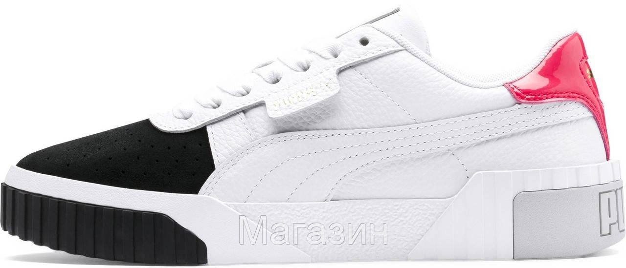Женские кроссовки Puma Cali Remix White Black Pink 369968-02 (Пума Кали) белые с черным розовым