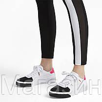 Женские кроссовки Puma Cali Remix White Black Pink 369968-02 (Пума Кали) белые с черным розовым, фото 2