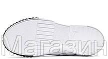 Женские кроссовки Puma Cali Remix White Black Pink 369968-02 (Пума Кали) белые с черным розовым, фото 3
