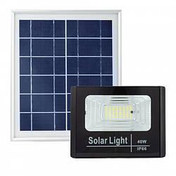 Прожектор на солнечных батареях Solar Light 40W уличный с пультом