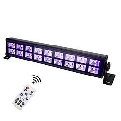 Ультрафиолетовая светодиодная панель 18х3 Вт с пультом ДУ DMX512