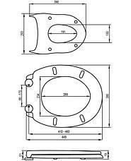 Крышка для унитаза с медленным опусканием Fala 75467, фото 2