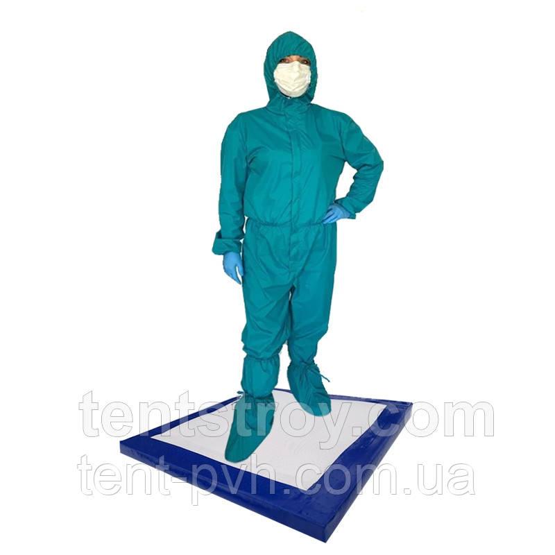 Антибактериальный коврик 100х100х3см дезинфекционный, дезбарьер, дезинфекционный мат для обуви