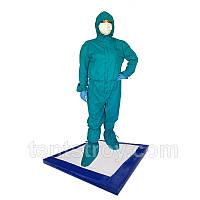 Антибактериальный коврик 100х100х3см дезинфекционный, дезбарьер, дезинфекционный мат для обуви, фото 1