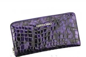 Женский кошелек Gregorio(F119) кожаный лаковый фиолетовый