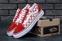 Кеды Vans Old Skool Supreme Red (Ванс Олд Скул Суприм красного цвета) мужские и женские размеры