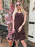Платье летнее в горошек с воланом AG1690