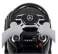 Дитяча каталка-толокар з батьківською ручкою Bambi Mercedes-AMG M 3186L-2 Чорний, шкіряне сидіння, MP3, фото 6