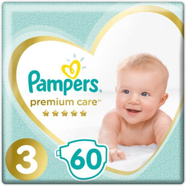 Подгузники Pampers Premium Care 3 ( 60 шт/ 6-10 кг)