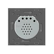 Сенсорный выключатель Livolo с функцией дистанционного управления, серый (VL-C701R-15), фото 2