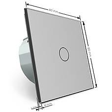 Сенсорный выключатель Livolo с функцией дистанционного управления, серый (VL-C701R-15), фото 3