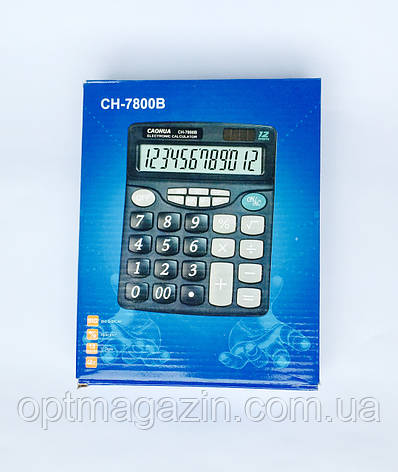 Калькулятор настольный CAOHUA CH-7800B, фото 2
