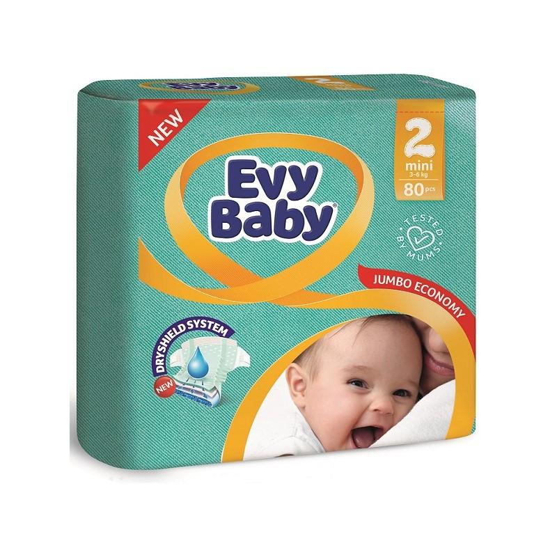 Підгузки Evy Baby 2 (3-6кг), 80шт