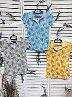 Модная женская трикотажная футболка Polo. Женская одежда.