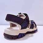 Сині спортивні сандалі з гумовим захисним носком від «Сонце» хлопчикам, р. 26, 27, 28, 29, 31, фото 4