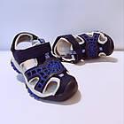 Сині спортивні сандалі з гумовим захисним носком від «Сонце» хлопчикам, р. 26, 27, 28, 29, 31, фото 5