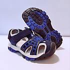 Сині спортивні сандалі з гумовим захисним носком від «Сонце» хлопчикам, р. 26, 27, 28, 29, 31, фото 7