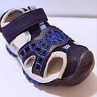 Сині спортивні сандалі з гумовим захисним носком від «Сонце» хлопчикам, р. 26, 27, 28, 29, 31, фото 8