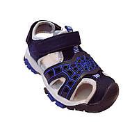 Синие спортивные сандалии с защитным резиновым носком от «Солнце» мальчикам, р. 26, 27, 28, 29, 31